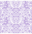 white vintage lace seamless pattern with flowers vector image vector image