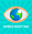 world eye day concept background flat style vector image