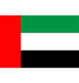Flag of the United Arab Emirates vector image