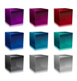 glass cubes vector image
