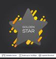 black badge star shaped sticker vector image