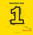 speed winner track vector image