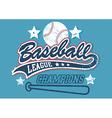 Baseball league champions vector image