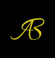 ab initial logo vector image vector image