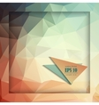 Abstract geometric background with polygons vector image