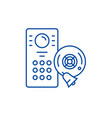 alarm system line icon concept alarm system flat vector image vector image