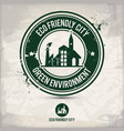 alternative eco city stamp vector image