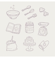 Baking Related Objects Set vector image