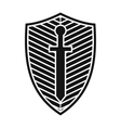 Best shield icon vector image vector image