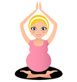 Blond Pregnant yoga woman isolated on white vector image vector image