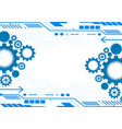 blue gear abstract background with copy space vector image