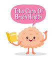 brain human internal organ cartoon character vector image vector image