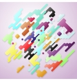 Bright color lines and dots colorful minimalist vector image vector image