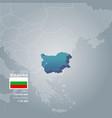 bulgaria information map vector image vector image