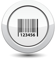 Button with Barcode Icon vector image vector image