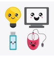 cartoon icon set Kawaii and technology vector image vector image