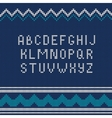 Christmas Knitted font 1 vector image