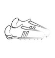 cleats shoes football soccer icon image vector image vector image