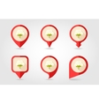 Cotton flat mapping pin icon with long shadow vector image vector image