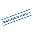 Danger Area Watermark Stamp vector image vector image