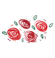 design made with red rose flower or color vector image vector image