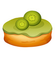 Doughnut with kiwi frosting vector image vector image