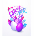 easter background bright stylish 3d foliage in vector image