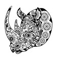 entangle one-horned rhinoceros vector image vector image
