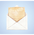 Envelope with a letter vector image vector image