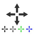 expand arrows flat icon vector image vector image