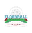 Floorball championship emblem vector image vector image