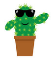 funny cactus vector image vector image