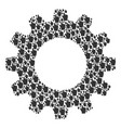 gear wheel mosaic of index finger icons vector image vector image