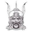 Hanuman Grunge print Vintage style vector image vector image