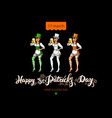 Happy Saint Patricks Day for greeting card vector image vector image
