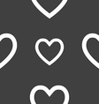 Heart sign icon Love symbol Seamless pattern on a vector image vector image