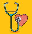 heart with stethoscope design vector image vector image