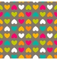 hearts color hand-drawn seamless pattern vector image