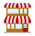 isolated shop building vector image