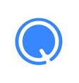 letter logo modern abstract blue icon of q vector image vector image