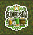 logo for saint patricks day vector image
