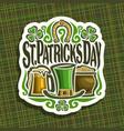 logo for saint patricks day vector image vector image