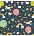Lovely seamless pattern with cute unicorns vector image vector image