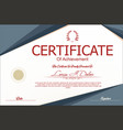 modern certificate or diploma template 5 vector image