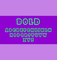 modern font or alphabet bold font and alphabet in vector image vector image