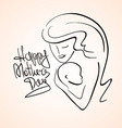 mother and child silhouette vector image
