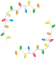 Multicolored flat led Christmas lights garland vector image vector image