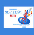 new year sale banner with vector image