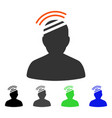 patient headache flat icon vector image