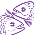 pisces fish head vector image vector image